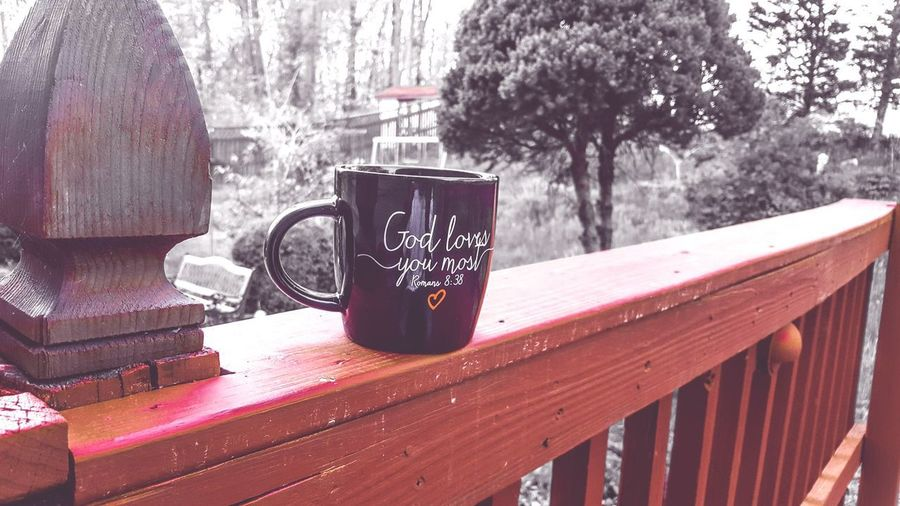 A small doze of caffeine. Romans8:38 God Is Great. Outdoors Coffee - Drink