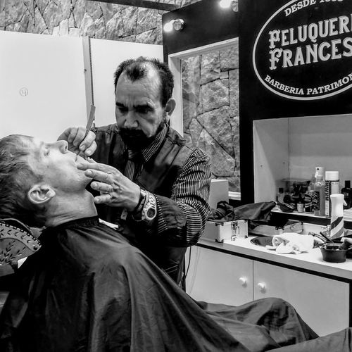 Two People Young Adult Indoors  Men Adults Only Adult Barbershop