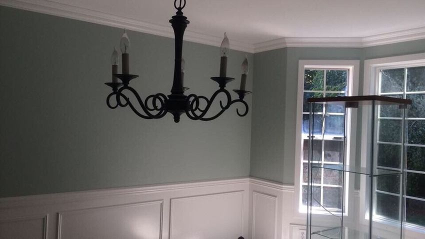 New Paint Formal Dining Room Mint Green White Roomspiration