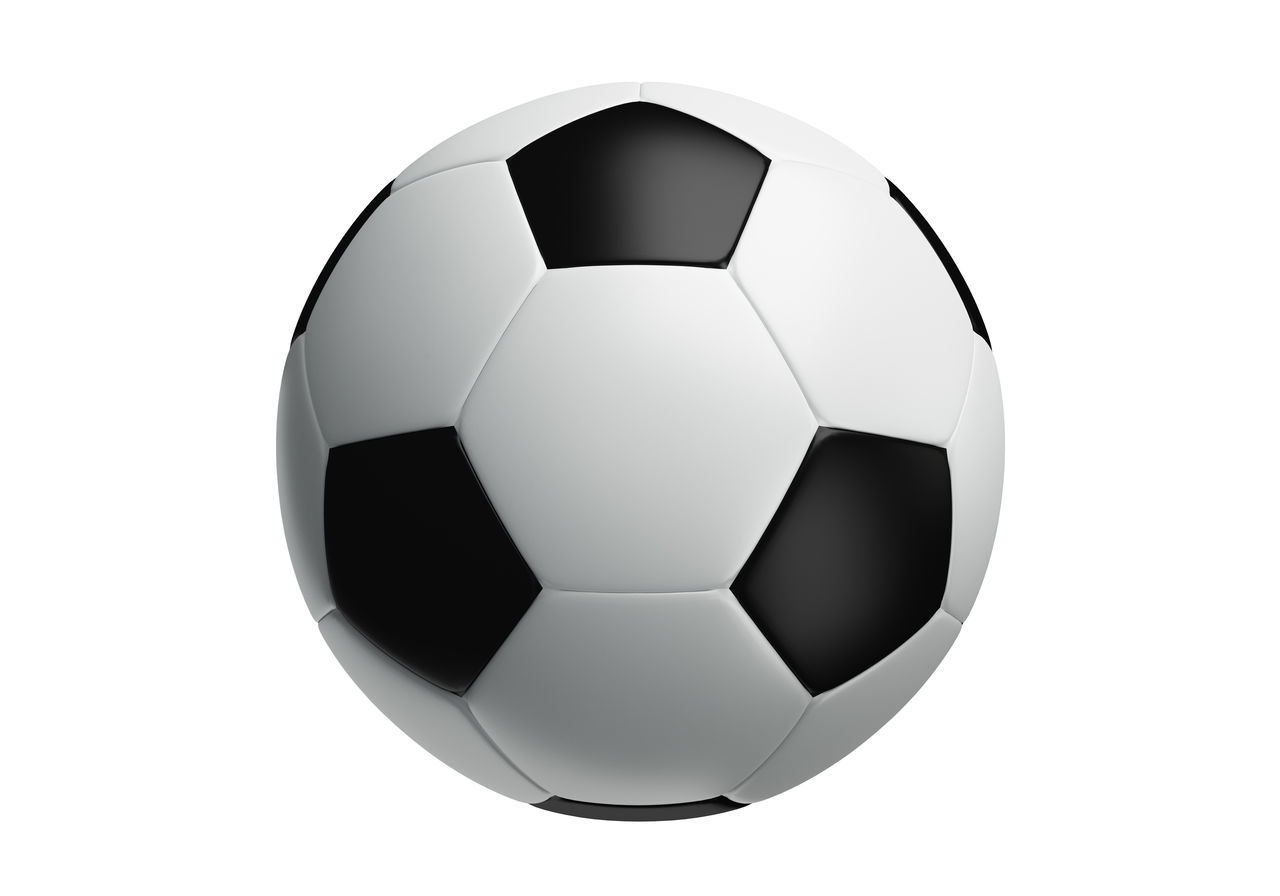 white background, ball, soccer ball, studio shot, sport, soccer, no people, close-up, day
