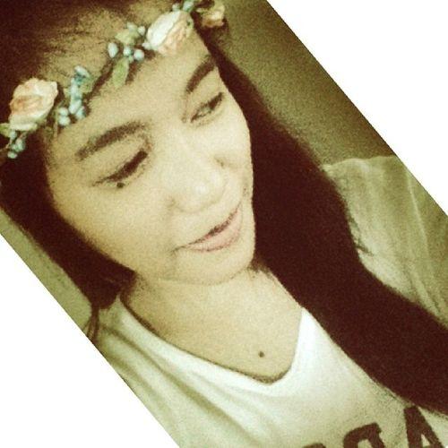 Feeling diyosa. Haha. That flower tiara ❤? Epic Selfie MedyoNatawa