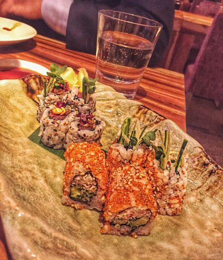 Sushi Spicy Tuna Dinner Rome California Rolls