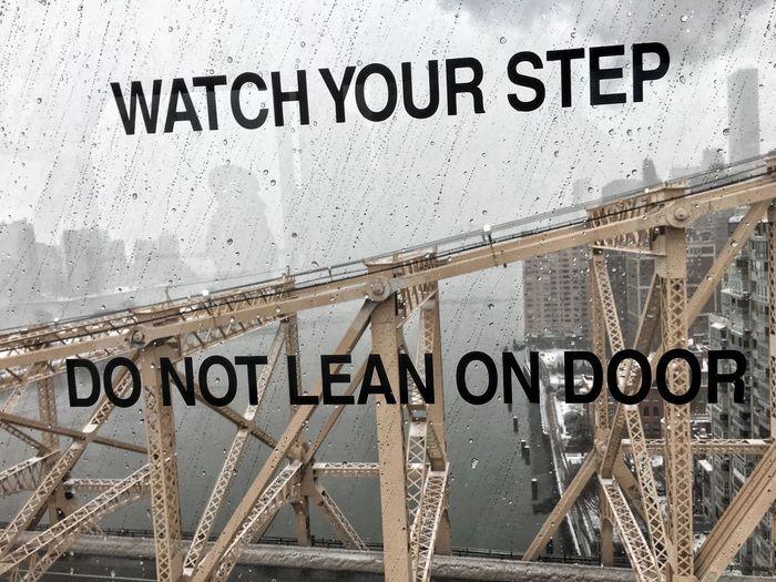 Watch Your Step Do Not Lean On Door Winter Storm Stella Stella Blizzard 2017 NYC Blizzard NYC Blizzard Winter