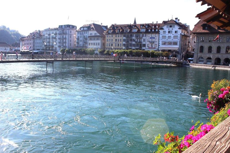 EyeEmNewHere Switzerland Travel Destinations The City Light Water Built Structure Sky Day Illuminated Noedit Nofilter Original Photo