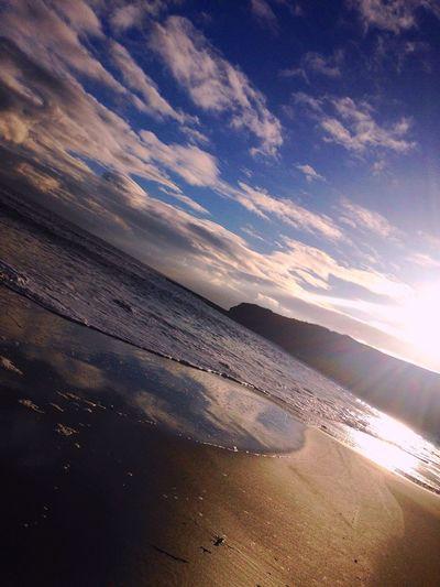 Enjoying Life Mostbeautifulplace Relaxing Ireland Sunlight Nature Beauty In Nature Atlantic Ocean Wildatlantic Beach Sand Summer Beautiful Waves Blue Wave Blue Sky Goldensands