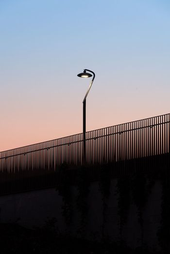 City Lights Lamp Minimalism Minimal Gradient Milano Milan negative space Sky Clear Sky Sunset Street Light No People Copy Space Architecture Built Structure The Architect - 2018 EyeEm Awards