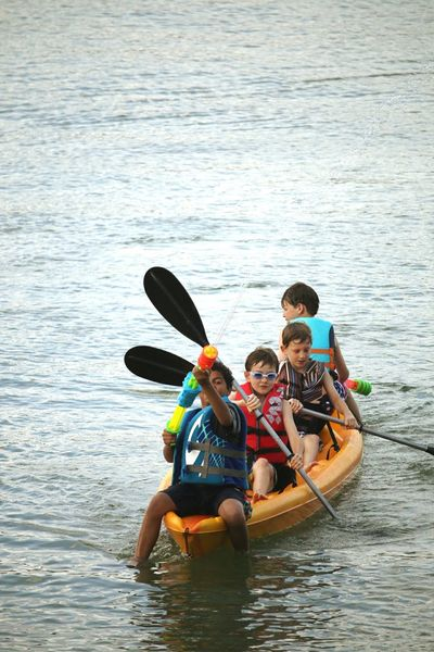 TogethernessTeamwork Lifestyles Paddle Elementary Age Camping Childhood Leisure Activity River Adventure Life Jacket Nautical Vessel Vacations Oar Fun Boys Sport Outdoors Bonding Day Water Live For The Story Summer Kayak Canon 70d