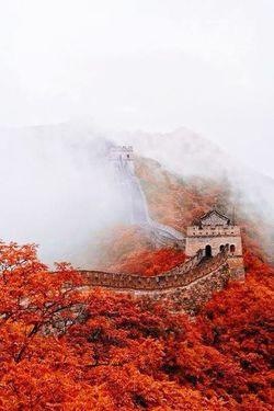 Chinesewallall] China Red White Landscape Misticplace Beautiful