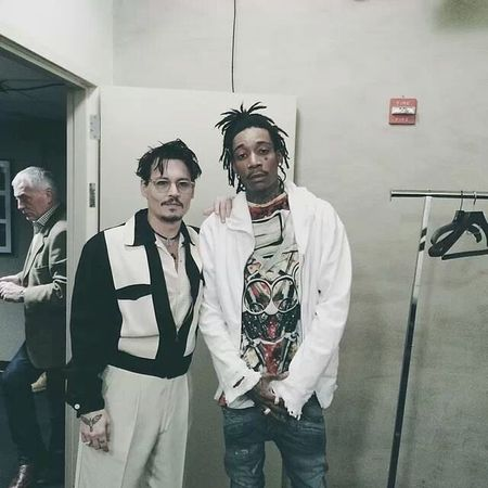 Swagg Wiz Khalifa Street Art Johnny Depp Two bosses meet.