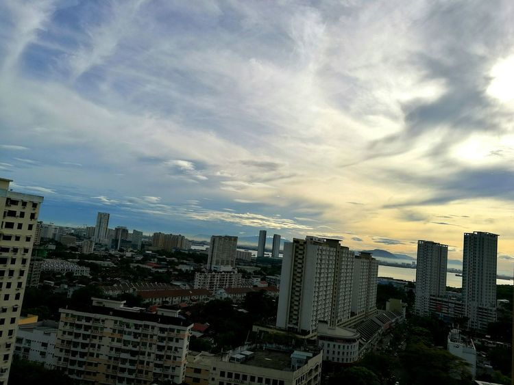 Adapted To The City Cityscape Skyscraper Cloud - Sky Sky No People OutdoorsDowntown District High Angle View Sky And Clouds Scenic Landscapes Freedom Free And Easy Penang View