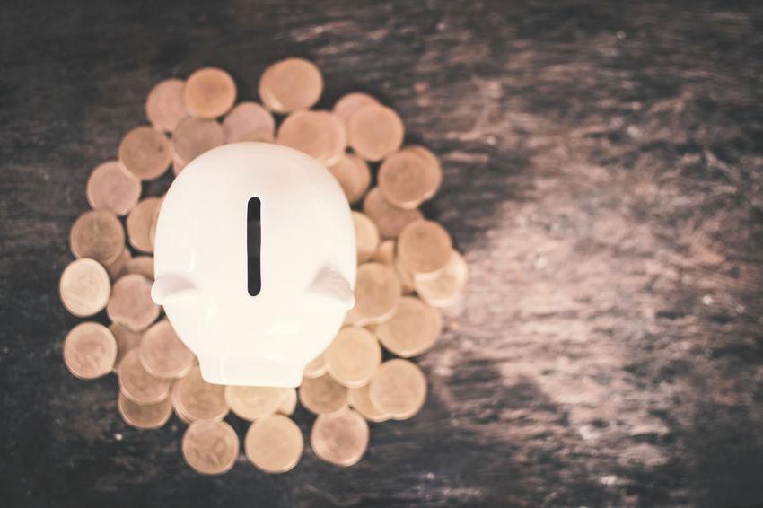 Piggy Bank Coins Savings