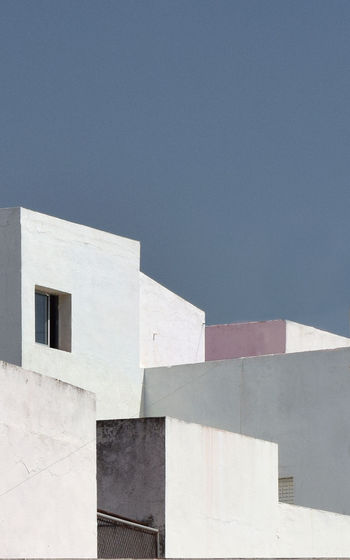 Architectural cubism. White architecture of Andalusia. The abstract architectural form Andalucia Rural Andalucia Spain Andalucía Minimalist Architecture Abstract Backgrounds Arabic Arabic Architecture Architecture Building Building Exterior Built Structure Cibismo Cubism Geometric Shape Minimalism No People Sky White