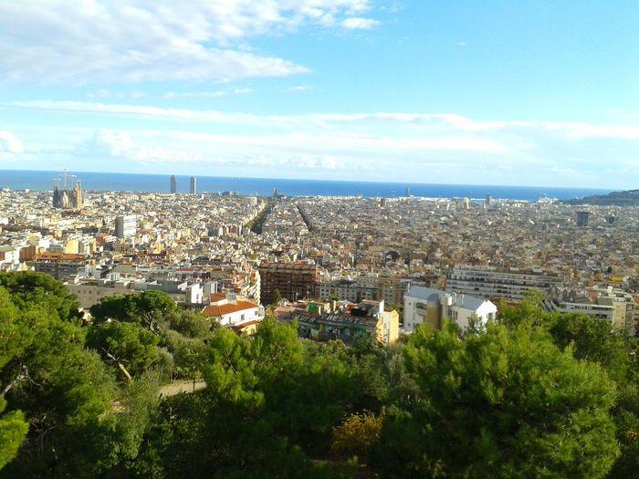 Barcelona, Spain Places I've Been España Sagrada Familia Horizon Over Water Barcelona Mediterranean Sea Mediterraneo