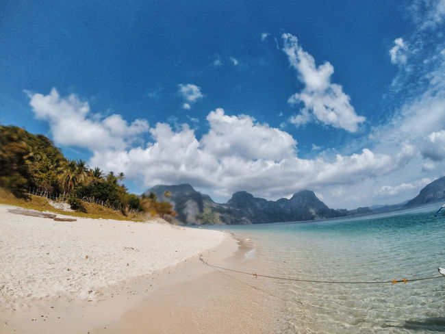 Beach Beauty In Nature Cloud - Sky Day Landscape Mountain Nature No People Outdoors Palawan Scenics Sea Sky Tranquil Scene Tranquility Tree Water