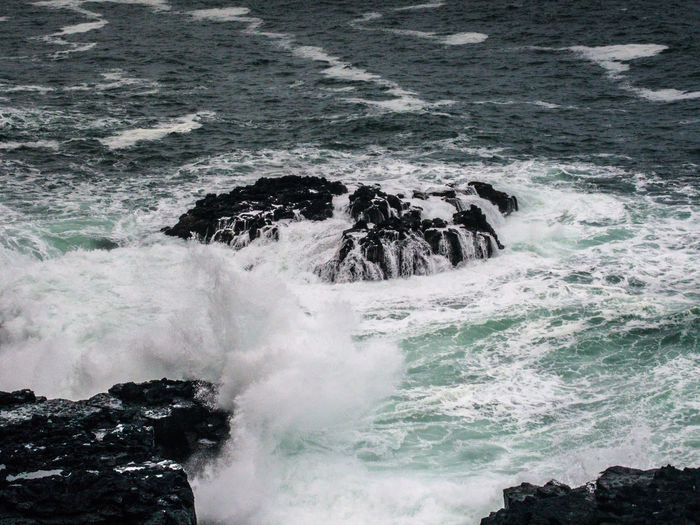 Sea Water Motion Power In Nature Wave Power Beauty In Nature Rock Surfing Splashing Aquatic Sport Sport Nature Rock - Object Day Solid Breaking Outdoors Hitting Flowing Water Rocky Coastline Ireland Ireland🍀 Waves Waves, Ocean, Nature
