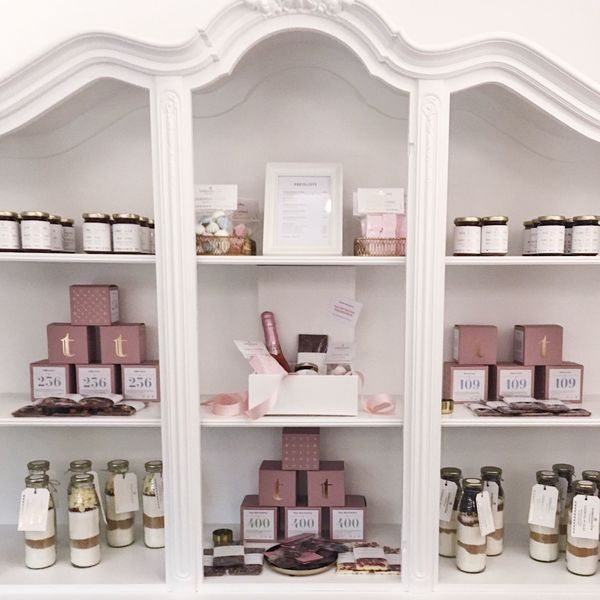 Millennial Pink Shelf Indoors  No People Retail  Home Interior Beauty Spa Day