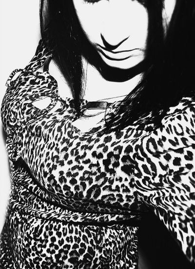 Check This Out Leopard Black And White Girl