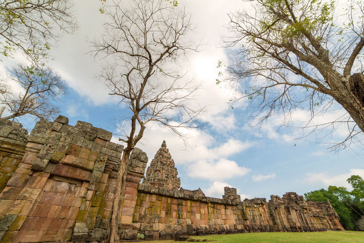 Architecture Built Structure Sky The Past History Tree Place Of Worship Travel Destinations Building Exterior Tourism Spirituality Religion Belief Building Low Angle View Nature Travel Day No People Outdoors Ancient Civilization Abbey Archaeology Ruined