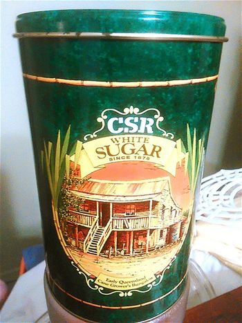 Tin Collection Sugar Tin Metal Tins Oldtin Collectibles Tins Collectables Metal Tin Tin Sugar Sugartins Old Tins Collectable Items Sugar Tin Queensland Old But Awesome Collectors Item Round Since 1878 CSR Round Not Square Metaltins Metaltin Est.1878 Oldtins