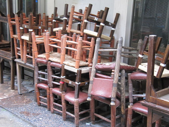 Beyoğlu Chairs Day Istanbul Istanbul Turkey Istiklal Caddesi No People Outdoors Restaurant Streetphotography Wood - Material