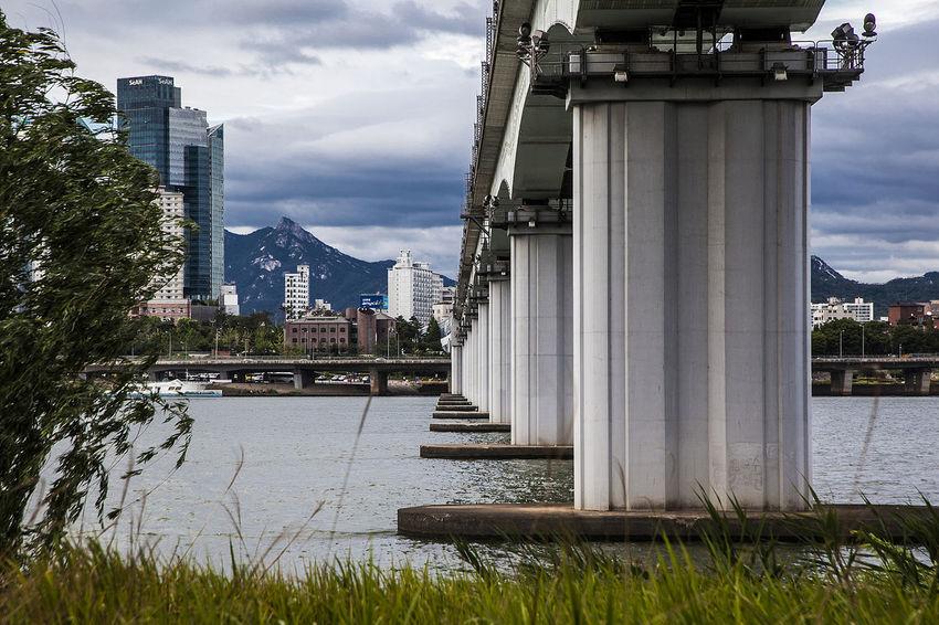 Han River Dangsan Rail Road Bridge Cloud Sky Seoul South Korea Korea