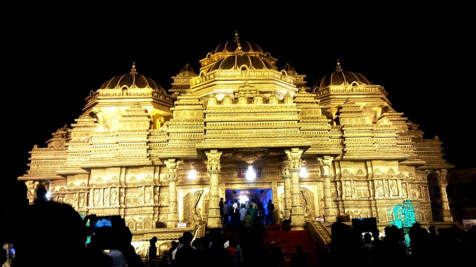 Golden temple in durgapuja