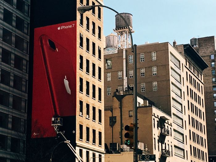 Architecture Building Exterior Built Structure Window City Day Outdoors No People Apartment New York City Apple