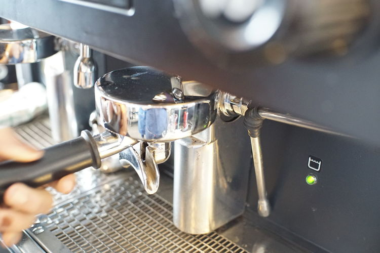 Coffee making step. Esspresso Shot Food And Drink Coffee Coffee - Drink Coffee Maker Indoors  Espresso Maker Appliance Machinery Coffee Shop Espresso Machine Coffee Machine Thailand Hot Glass Cafe