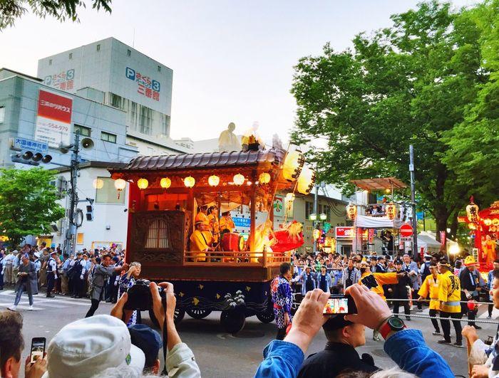 番場町の山車でした くらやみ祭り Festival