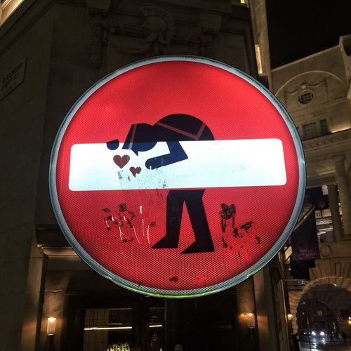 NO ENTRY Guidance Stop Sign Communication No People Red Building Exterior Forbidden Architecture City Close-up Outdoors Vertical Day