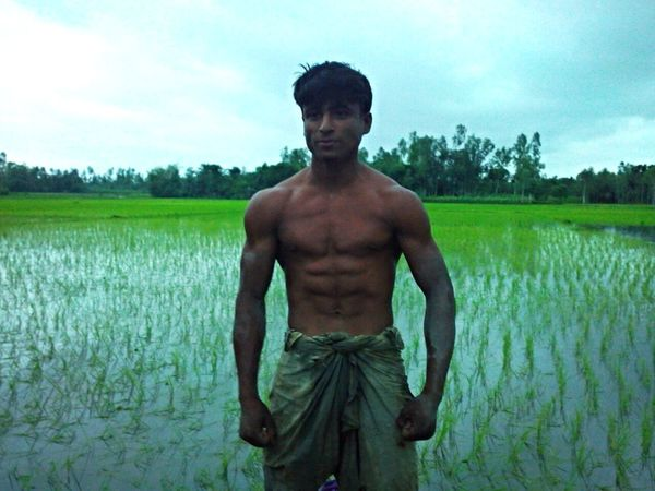 BodyBuilder Strongman Hardworker Natural Fields Bangladeshi Boy Young Boy Bangladeshism Bangali Hulk