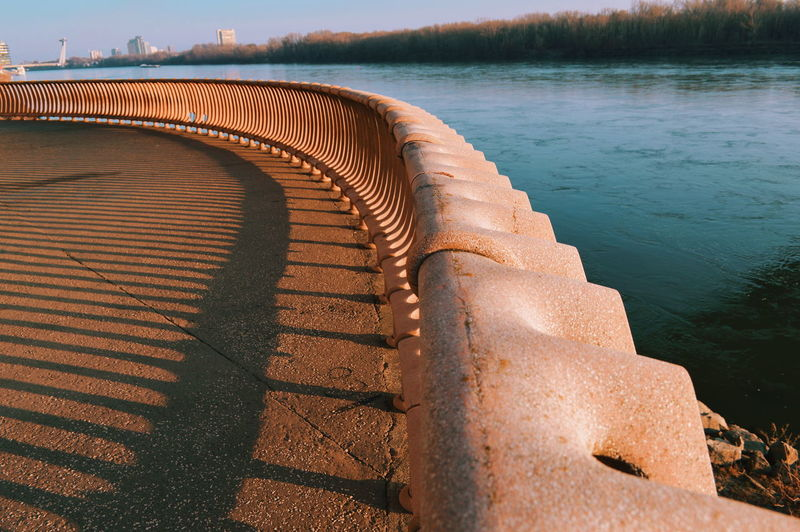 River River Danube Fence Architecture Architecture_collection Architectural Detail Architectural Feature Architecturelovers Architectural Design Concrete Urban Urban Photography LINE Lines, Shapes And Curves Pattern Water Sky Landscape My Best Photo 17.62°