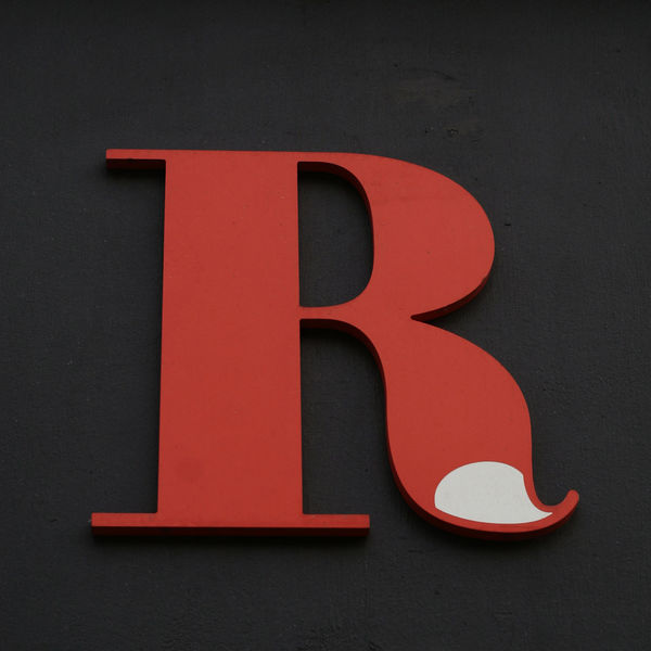 LETTER R Black Background Letter R Alphabet Close-up Day Red Store Sign Urban