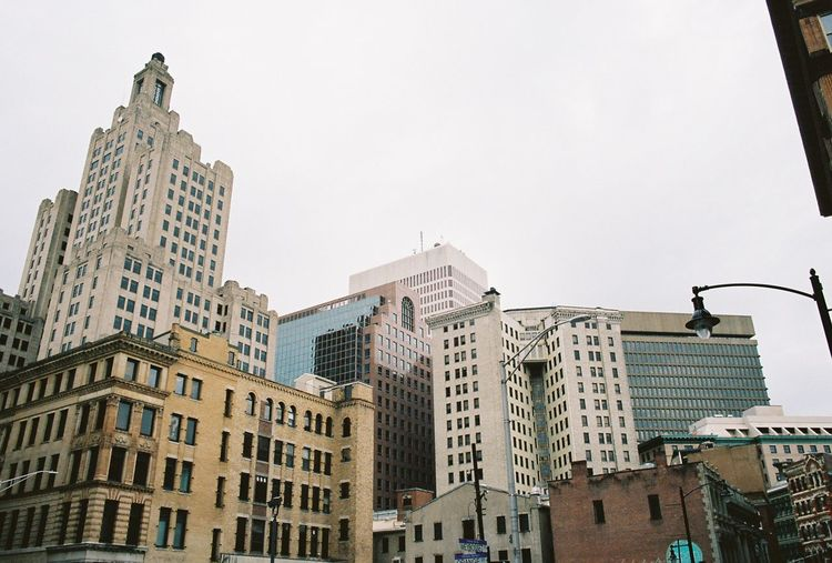 Providence 35mm film #filmphotography #35mmfilm EyeEm Selects Building Exterior Built Structure Architecture Building Sky City Low Angle View Clear Sky Day Nature No People Copy Space Tall - High Skyscraper Office Building Exterior Outdoors