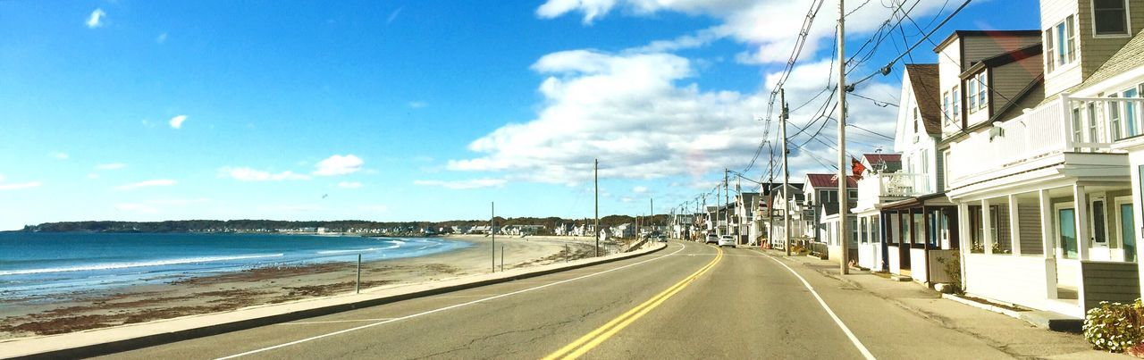 by the sea... Blue Sky In A Sea Town Maine