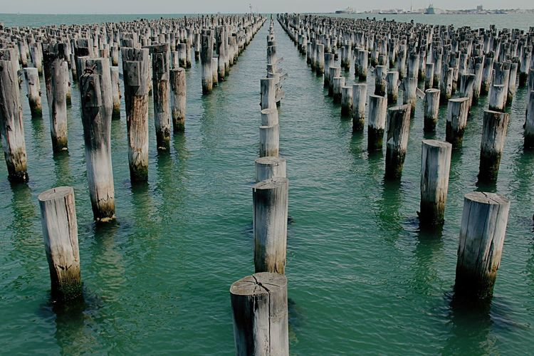 Learn & Shoot: Leading Lines First Eyeem Photo Old Harbour Melbourne Old Port Ocean View Australia Beautifully Organized