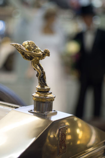 Auto und Technikmuseum Classic Car Close Up Technology Close-up Emily Gold Gold Colored Hood Ornament No People Rolls Royce Spirit Of Ecstasy Vintage Cars Wedding Wedding Dress Wedding Photography Rainersinsheim