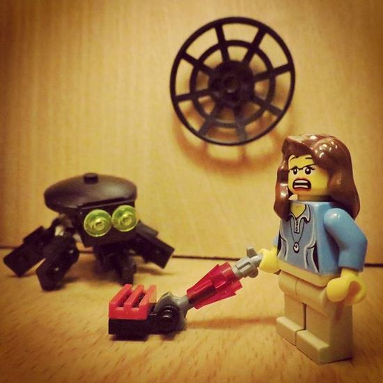 """I think I'm gonna need a bigger hoover..."" LEGO Legophotography Minfigures Brickify Arachnaphobeproblems Womenintoyphotography"