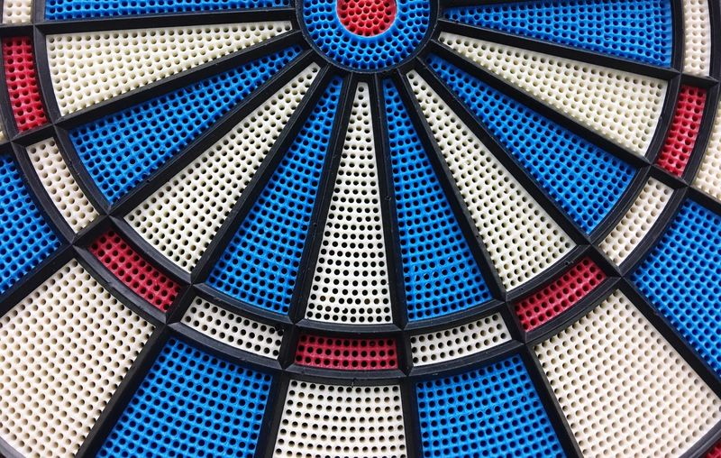 Full Frame Shot Of Dart Board
