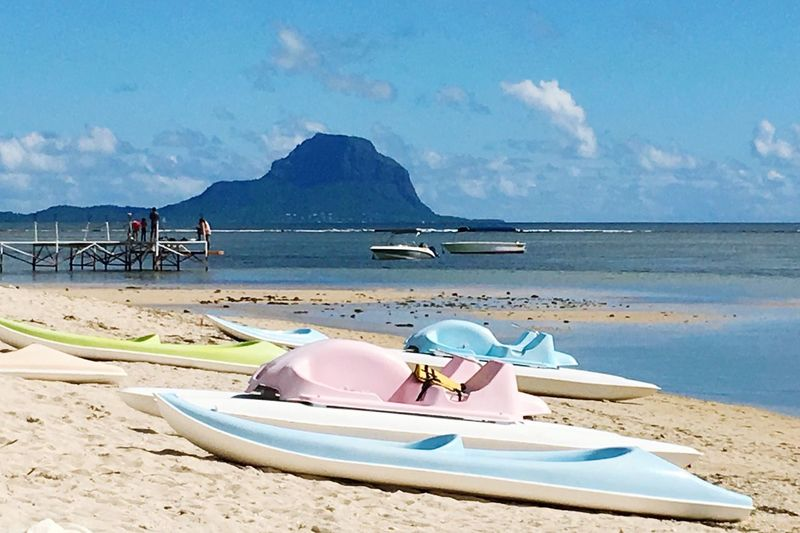 The Great Outdoors - 2016 EyeEm Awards Found On The Roll Mauritius Color Of Life Nature_collection The Essence Of Summer Nature Landscape Blue Wave Pastel Power Pastel Pastel Colors Kajak Beach Life Is A Beach Pier Home Is Where The Art Is Low Tide Sea Sand People Sun And Clouds Light Perspective Sun