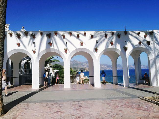 😃👍Hello🌎World Balcon De Europa Nerja 🌅sUNsET Spain♥ Sunlight Summer Low Angle View 😜 ❤