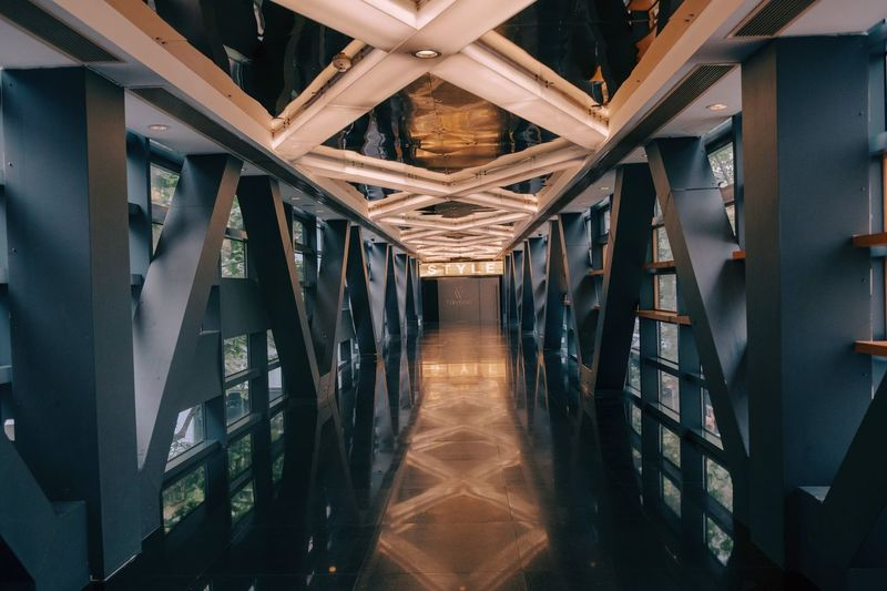 EyeEm Selects Architecture Built Structure Indoors  No People Direction Building Diminishing Perspective Corridor Illuminated The Way Forward Wall - Building Feature Travel Destinations Architectural Column Window Pattern Day Nature Reflection Ceiling Arcade