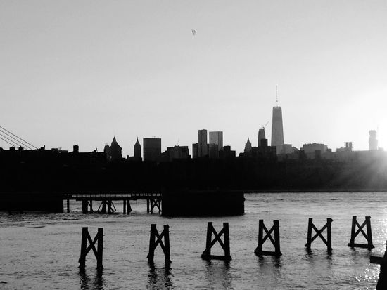 My first fixed view of Freedom Tower Sunset Manhattan view Sunset Silhouettes near EyeEm Road trip for me