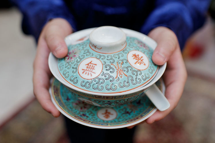 Traditional Chinese Tea Ceremony Antique Chinese Chinese New Year Close-up Culture Drink Holding Human Hand Indoors  Midsection Old-fashioned One Person Parents People Refreshment Respect Serving Size Tea Tea Ceremony Traditional Culture Lieblingsteil