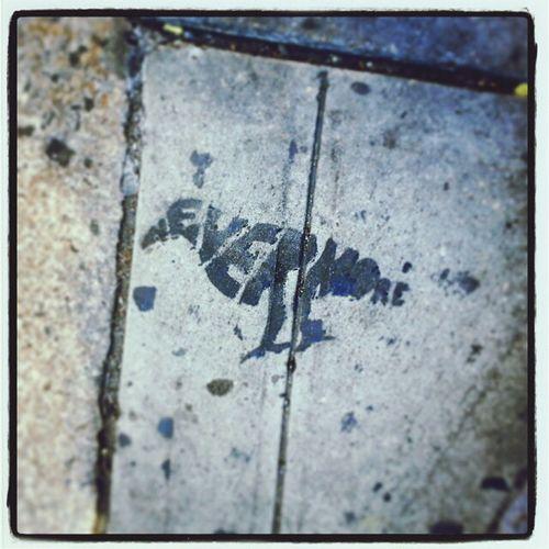 NYC Street Art Nevermore Poe Edger Allen Poe Paint Raven