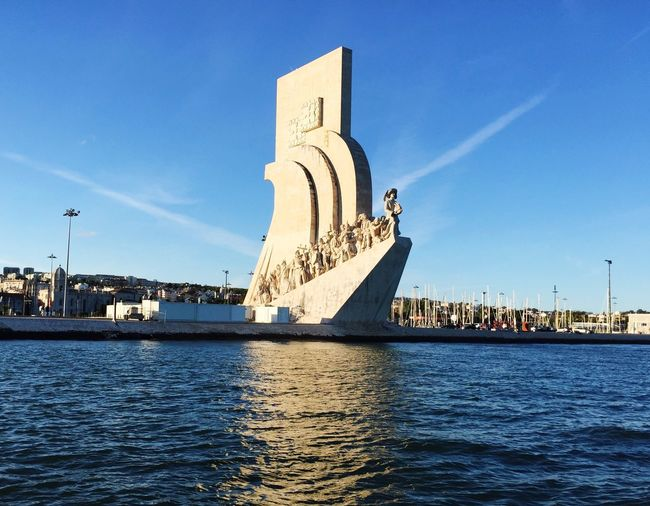 Padrão dos Descobrimentos • Monument to the Discoveries Padrão Dos Descobrimentos Monumenttothediscoveries Tagus River Lisbon Belém Portugal IPhoneography