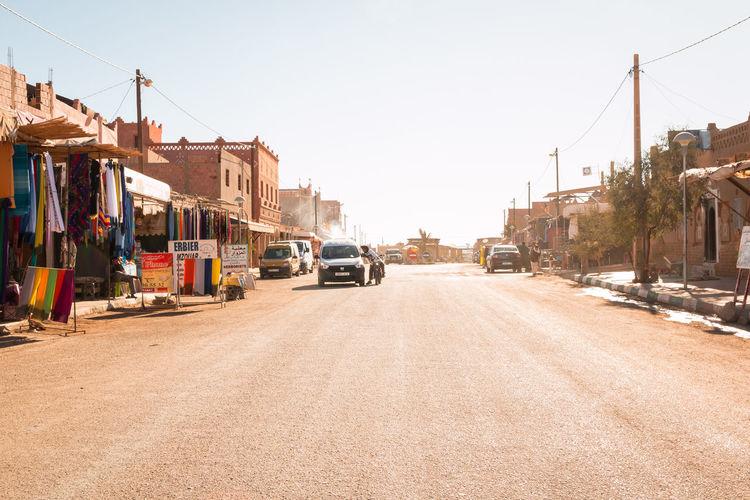 empty street in