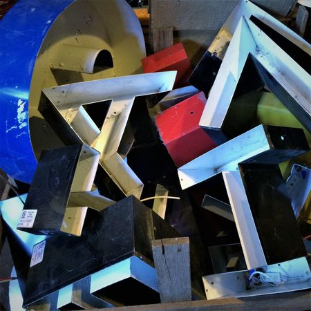 Alphabet Soup Alphabetography Close-up Discarded Industrial Letters Art Metal No People Old
