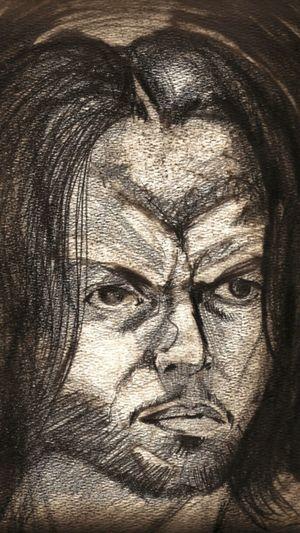 Self Portrait Pencil Drawing Selfie That's Me ArtWork Art Graphite Art 2005 Drawing