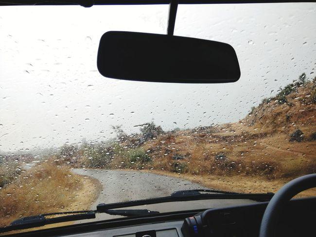 Car Vehicle Interior Car Interior Rain Weather Driving Rainy Season Water RainDrop Dashboard Window Drop Wet Land Vehicle Windshield Transportation